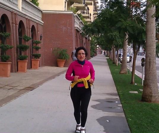 Brenda Avadian training for the LA Marathon in SANDALS