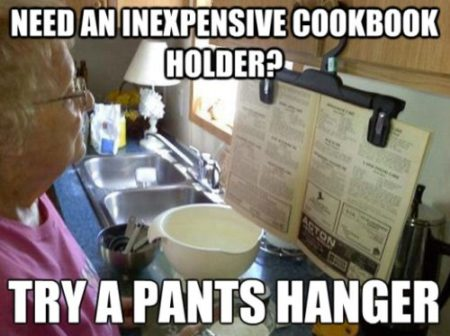 Inexpensive cookbook holder