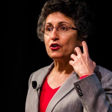 Brenda Avadian presenting caregiver speech