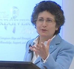 Brenda Avadian Caregiver Expert Speaker gesture