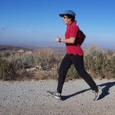 Brenda Avadian jogging