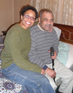 Caregiver Paulette and her father, Melvin