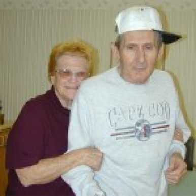 Caregiver Marion with her husband Don Riley
