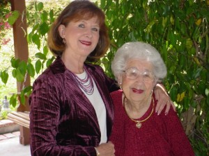 Claire Abel and her mom Anne on Mother's Day 2012