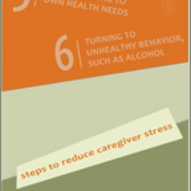 Ron Whitaker Handling Caregiver Stress Inforgraphic