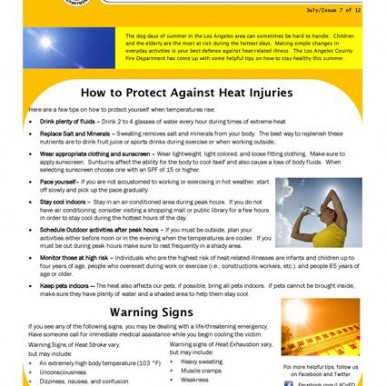 How to protect against heat injuries