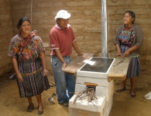 A Guatemalan family celebrates their new stove