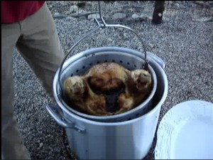 Avadian_Removing Turkey from Deep Fryer_2012