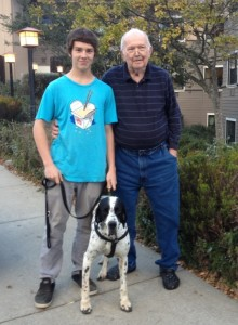 Grandson Peter Juul with his Far FarSonPeterJuul and dog Rass Oakland CA