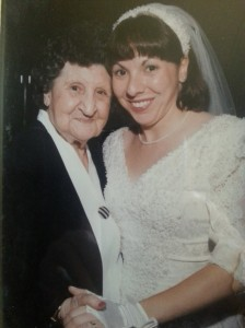 Grandma Rose Ancillotti and Lynette Juul on her Wedding Day