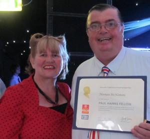 Norm Mc Namara w Elaine Rotary Award
