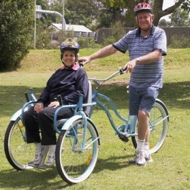 Bill and Glad on The Bike Chair_Queensland, AUS