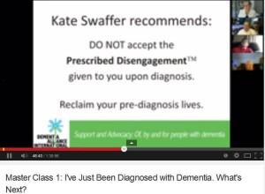 Dementia Alliance International - Kate Swaffer  Prescribed Disengagement