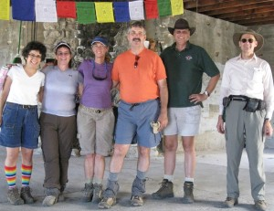 Brenda Avadian w hiking friends at Ashram near Mt Whitney - Web