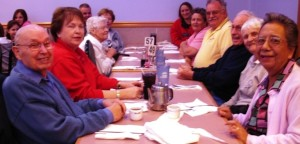Caregivers out for dinner