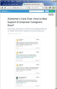 #ALZchat on Twitter Storify