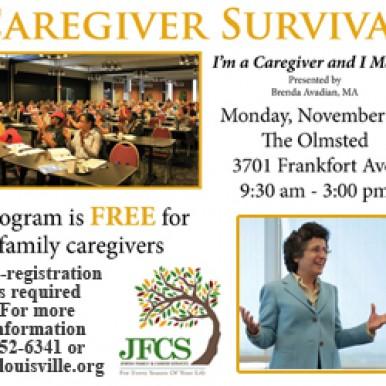 Caregiver Survival Conference Nov 10 Louisville, KY