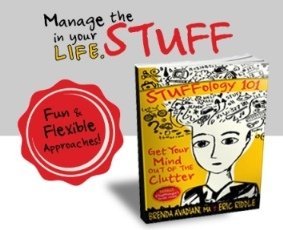 STUFFology 101 book - FUN and Flexible Ways to Manage the Clutter in your life
