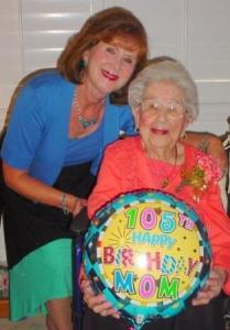 Caregiver Claire Abel with her 105 year old mom Anne B