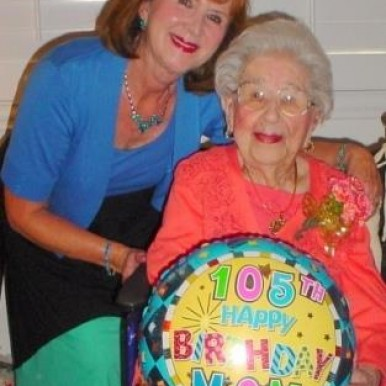 Claire Abel with her 105 year old mom Anne B