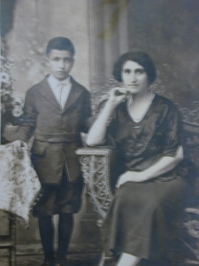 Martin Avadian and his mother