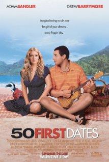 50 First Dates movie cover art  Adam Sandler
