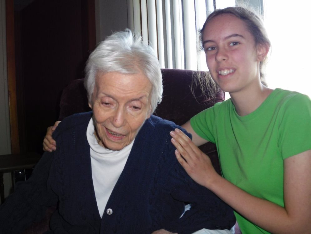 Leah Bender and Grandma 2009