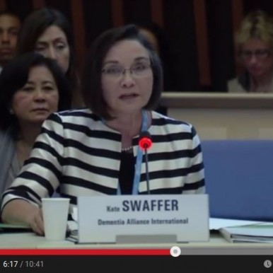Kate Swaffer Dementia Alliance International at WHO Ministerial Conference - Web