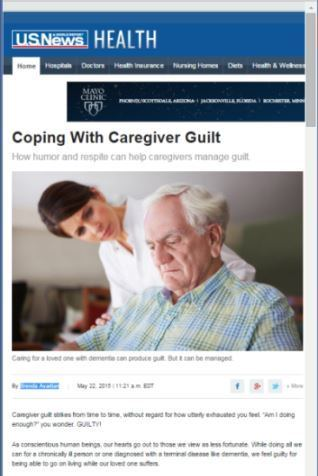U.S. News Article Coping with Caregiver Guilt