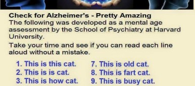 The Caregiver's Voice Humor - This is a CAT Mental Age test
