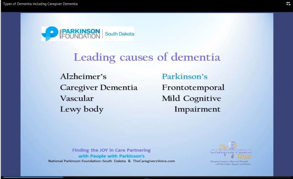 Types of Dementia including Caregiver Dementia