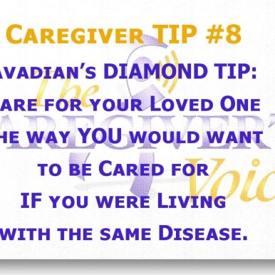 Caregiver TIP 8 - Avadian Diamond Tip for Caregivers