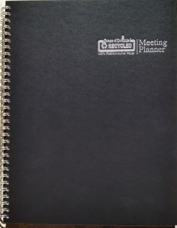 House of Doolittle Meeting Planner cover