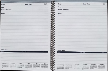 House of Doolittle Meeting Planner interior