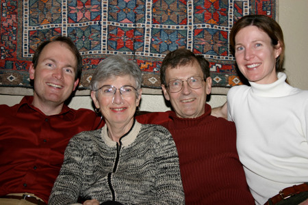 Dr. Lisa Price with brother Michael and Parents