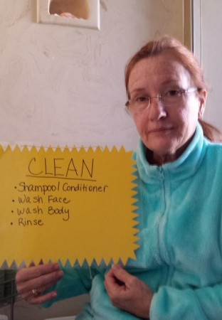 Susan Suchan created laminated signs to help her remember as she lives with Alzheimer's and FTD