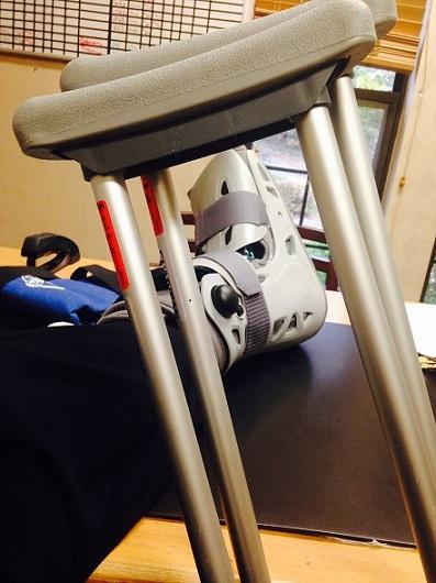 Caregiver breaks her foot