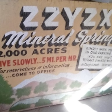 ZZYZX Mineral Springs Sign 20150125
