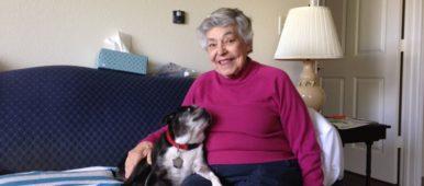 Jessica Bibbio - A woman and her canine companion