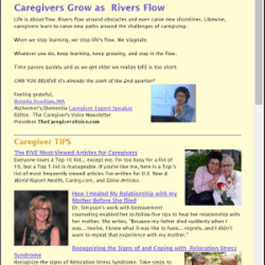 The Caregiver's Voice Newsletter April 2016
