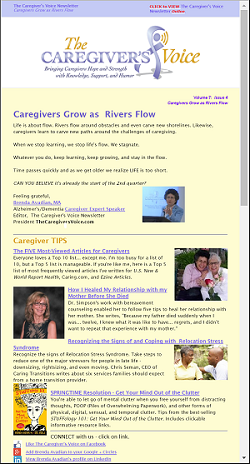 The Caregiver's Voice Newsletter April 2016 - Caregivers Grow as Rivers Flow