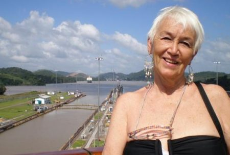 Jeanne Lee at the Panama Canal