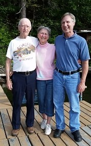 Hubby David w his aunt Angie and Uncle Joe in Northern Wisconsin