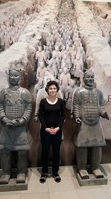 Field Museum Brenda Avadian w Terra Cotta Warriors-web