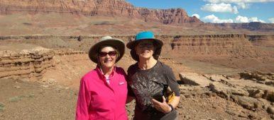Road Scholar Sue Olsen in pink Arizona 2016-04-12