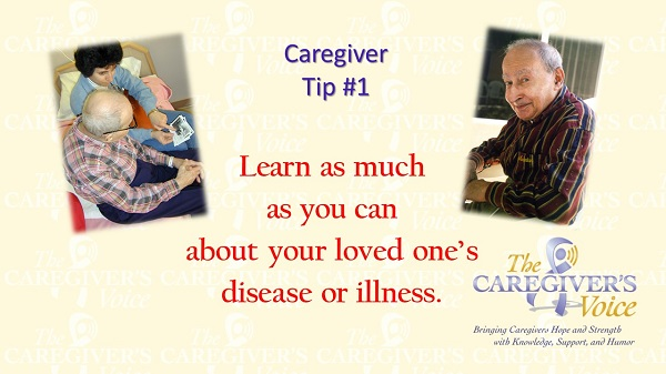 Slide of Caregiver Tip 1 - Learn as much as you can Avadian