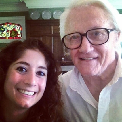 Victoria Negri and Robert Vaughn