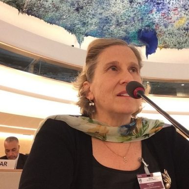 Mary Radnofsky speaking at UN Geneva