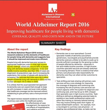 2016 World Alzheimer's Report graphic