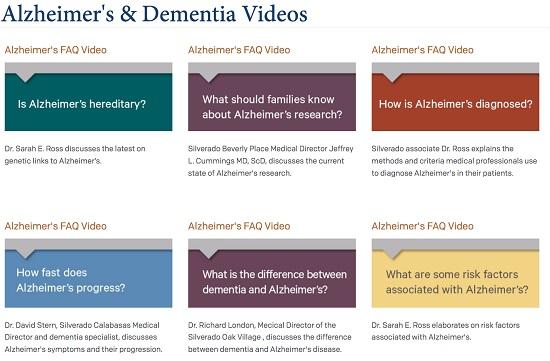 Dementia questions - Silverado